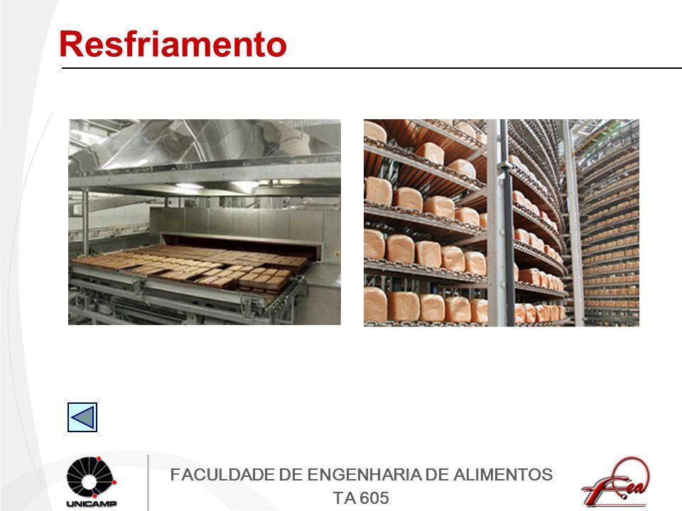 FACULDADE DE ENGENHARIA DE ALIMENTOS TA 605 Resfriamento