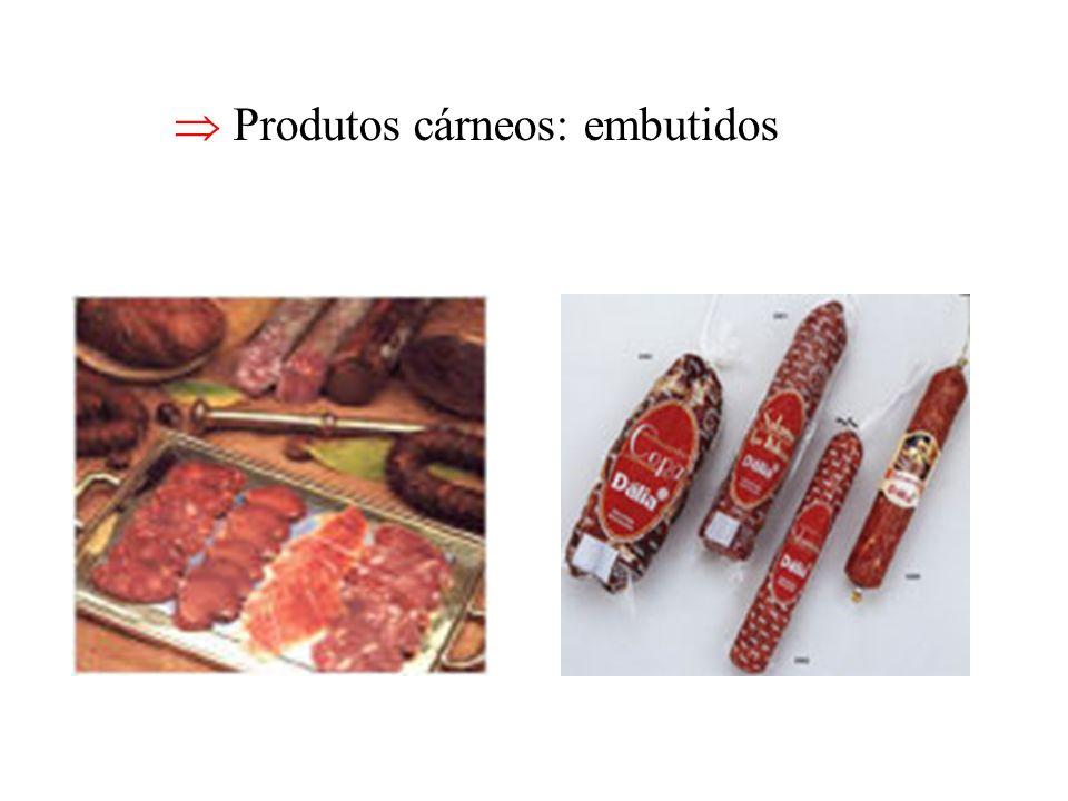 Produtos cárneos: embutidos