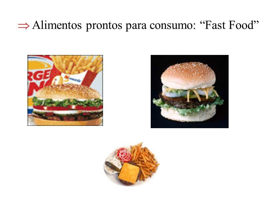 Alimentos prontos para consumo: Fast Food