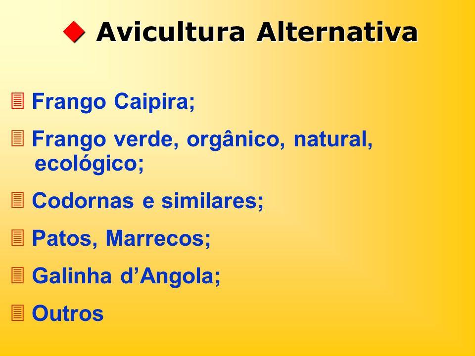 Avicultura Alternativa Avicultura Alternativa Frango Caipira; Frango verde, orgânico, natural, ecológico; Codornas e similares; Patos, Marrecos; Galin