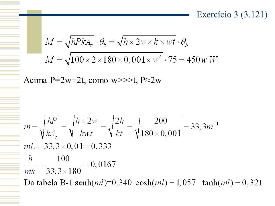 Acima P=2w+2t, como w>>>t, P2w