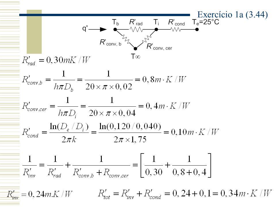 A a = área superficial da aleta A c,b = área da seção transversal na base