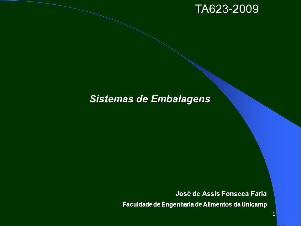 1 Sistemas de Embalagens José de Assis Fonseca Faria Faculdade de Engenharia de Alimentos da Unicamp TA623-2009