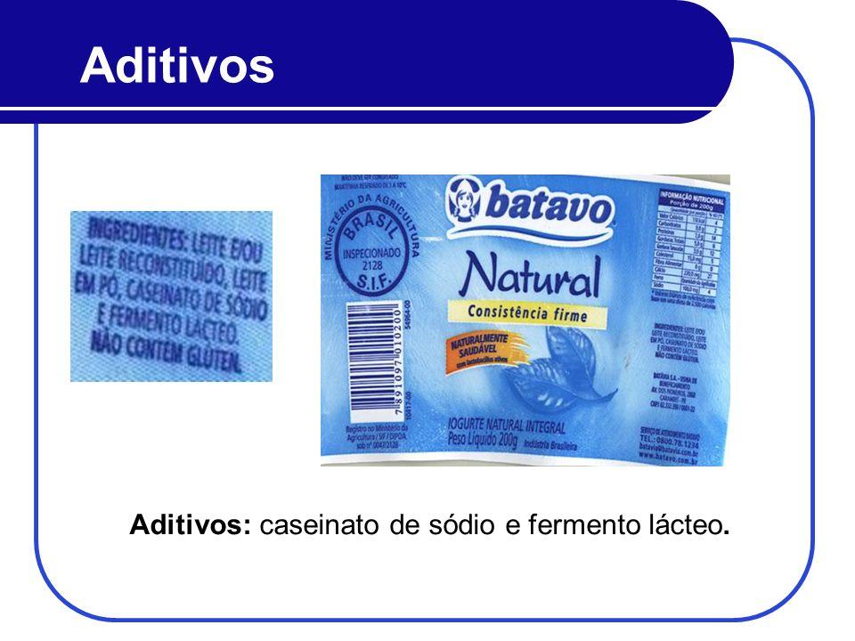 Aditivos Aditivos: caseinato de sódio e fermento lácteo.