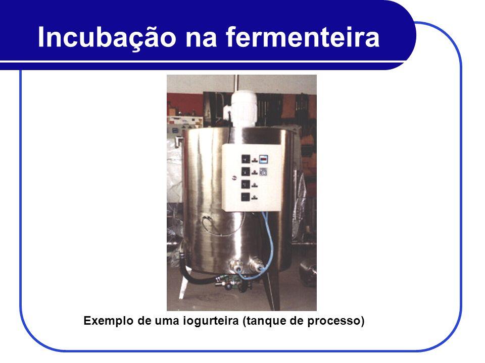 Incubação na fermenteira Exemplo de uma iogurteira (tanque de processo)