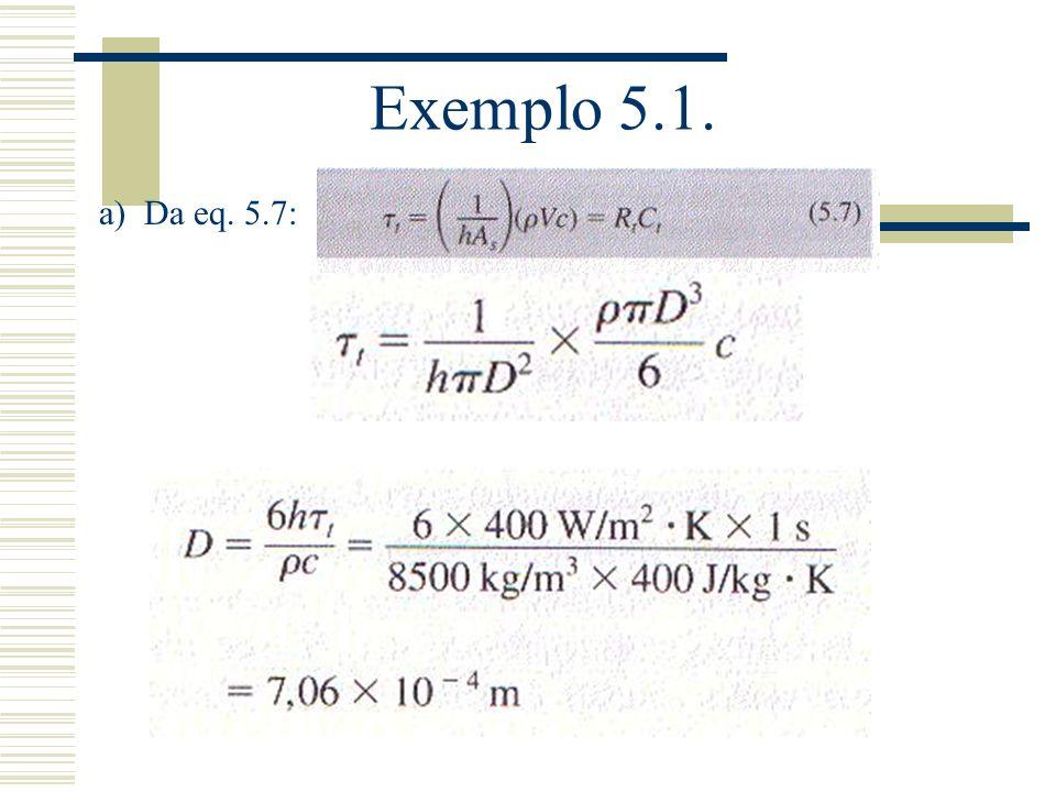 Exemplo 5.1. a) Da eq. 5.7: