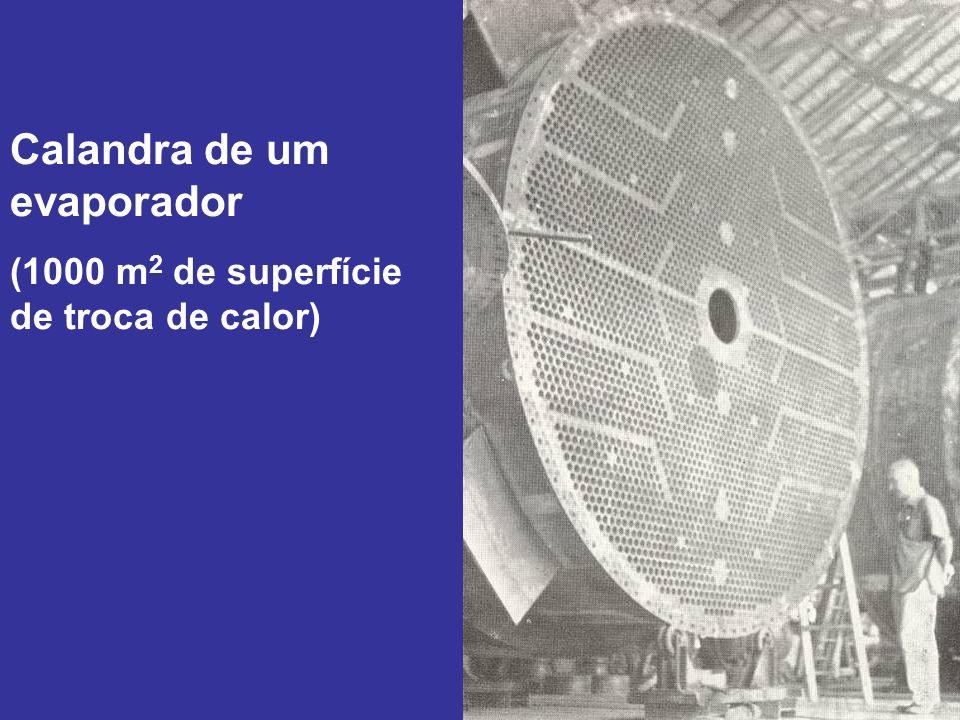 Calandra de um evaporador (1000 m 2 de superfície de troca de calor)