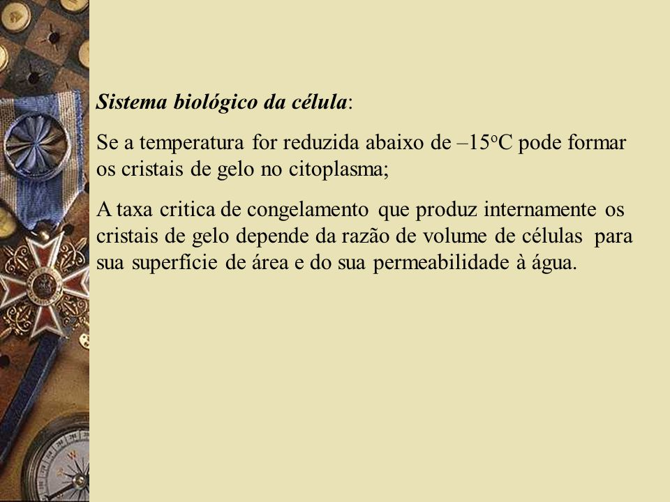 CURVAS DE CONGELAMENTO CRIOGÊNICO EXPERIMENTAIS