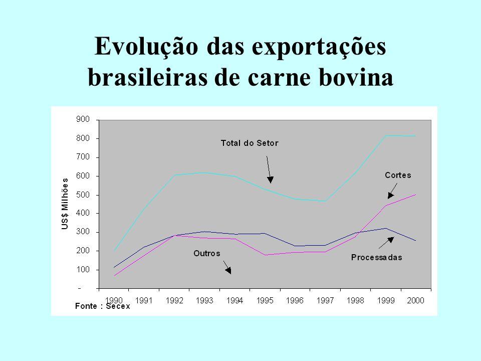 Carne Bovina Desossada - Exportação Mundial e Participação do Brasil