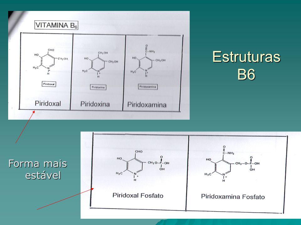 Estruturas B6 Forma mais estável