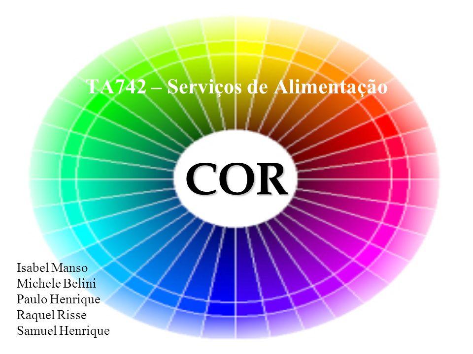 Cor Três elementos formam a cor: a luz, como fonte da cor; a matéria e sua reação à incidência da cor através da luz; o olho, como o órgão captador e o decodificador da cor para o cérebro.
