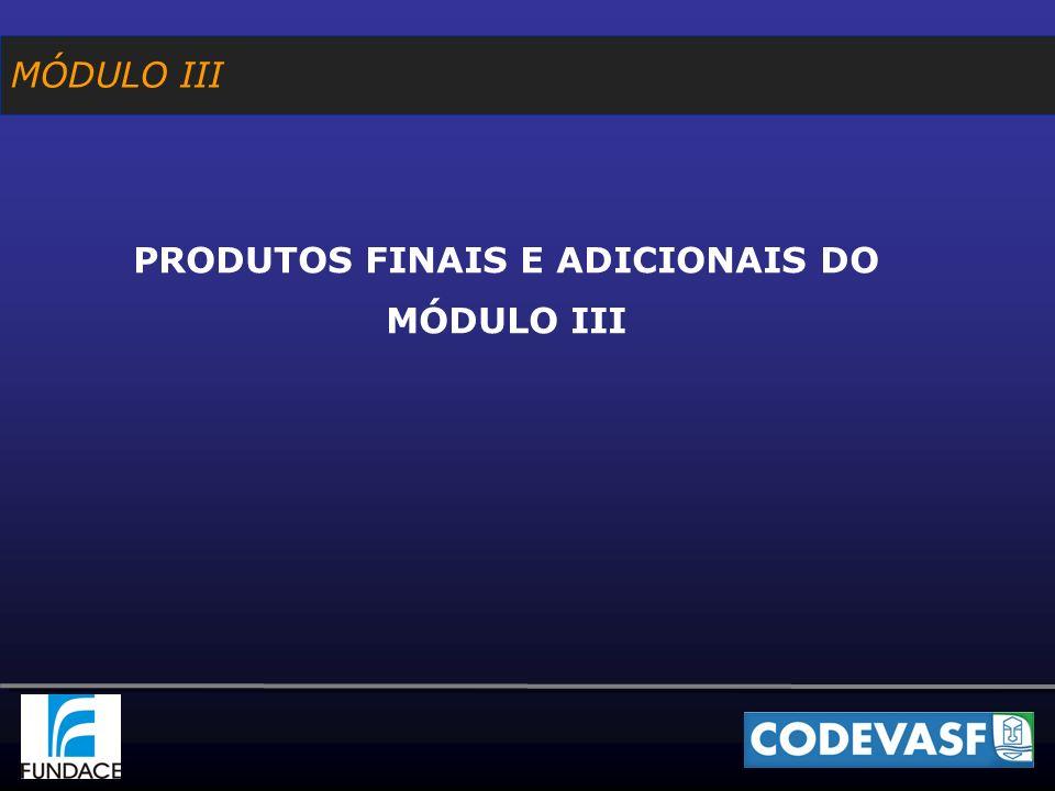 MÓDULO III PRODUTOS FINAIS E ADICIONAIS DO MÓDULO III