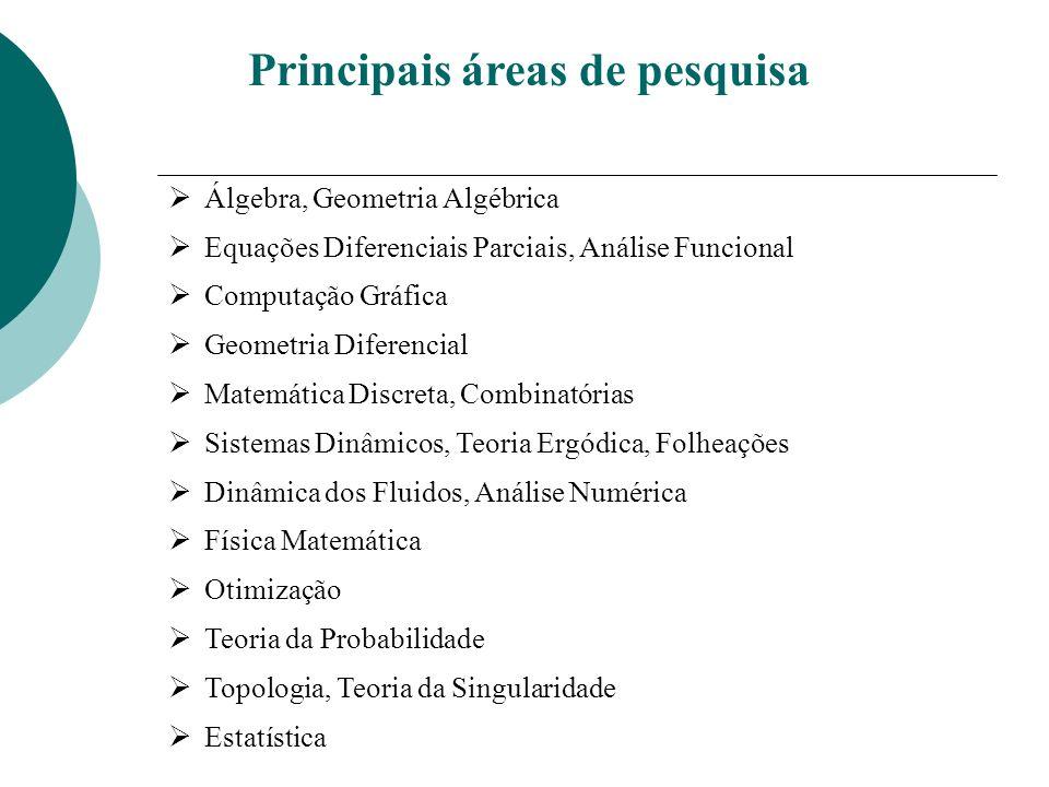 Iniciativas da Sociedade Brasileira de Matemática Ø Revitalização das Secretarias Regionais Objetivo – presença da SBM em todas as unidades federativas e em todas as cidades com pós-graduação em Matemática Projeto Integrando a Amazônia Parceria com 8 universidades federais da Regão Norte e todos os programas conceitos 6 e 7 Projeto Klein em Língua Portuguesa Parceria com SBEM, SBMAC, SBHMAT, OBMEP e a Sociedade Portuguesa de Matemática Mestrado Profissional em Matemática em Rede Nacional (PROFMAT)