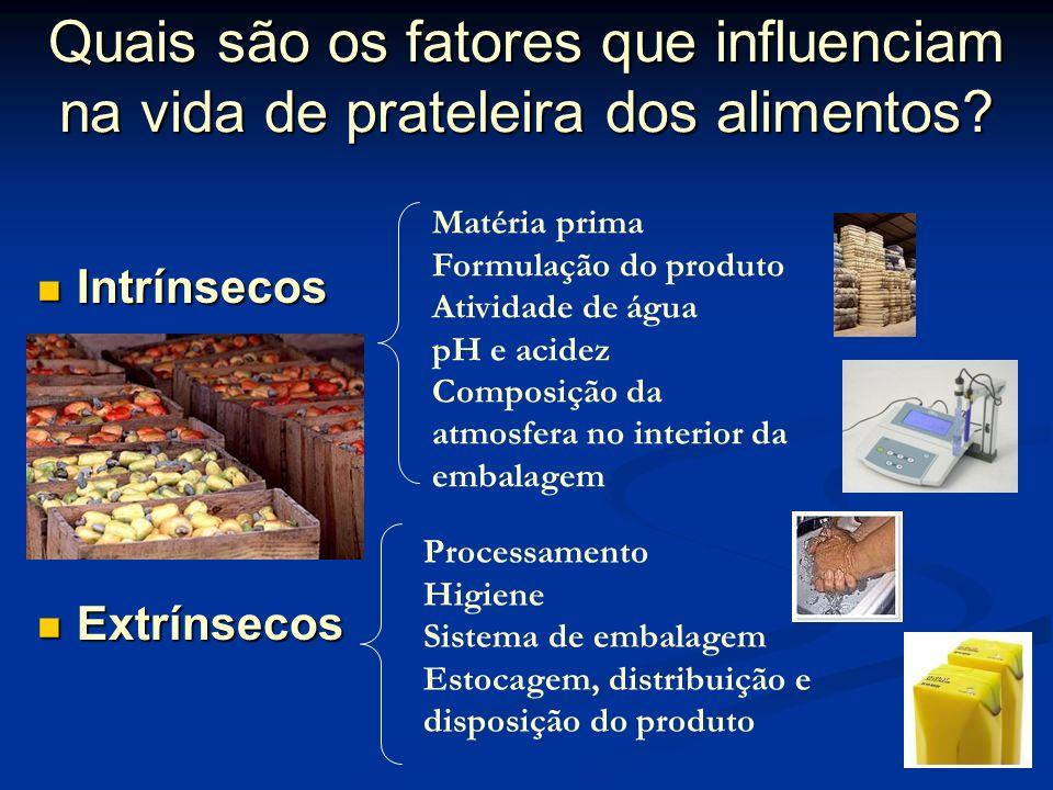 Quais são os fatores que influenciam na vida de prateleira dos alimentos.