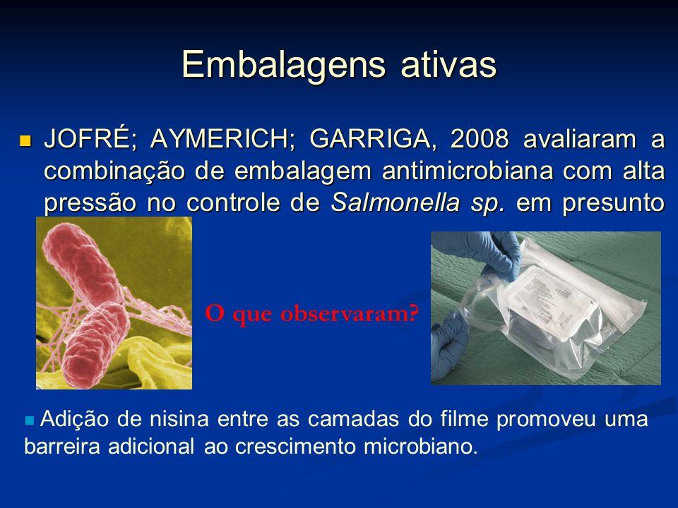 Embalagens ativas CHARLES; GUILLAUME; GONTARD, 2008 estudaram o efeito de embalagens passivas e ativas com atmosfera modificada na alteração da qualid