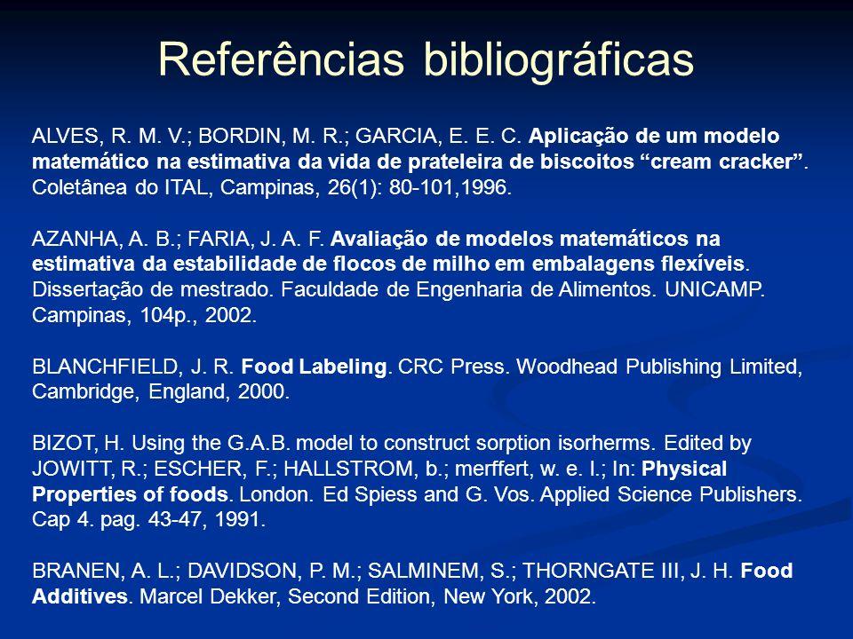 Embalagens ativas JOFRÉ; AYMERICH; GARRIGA, 2008 avaliaram a combinação de embalagem antimicrobiana com alta pressão no controle de Salmonella sp. em