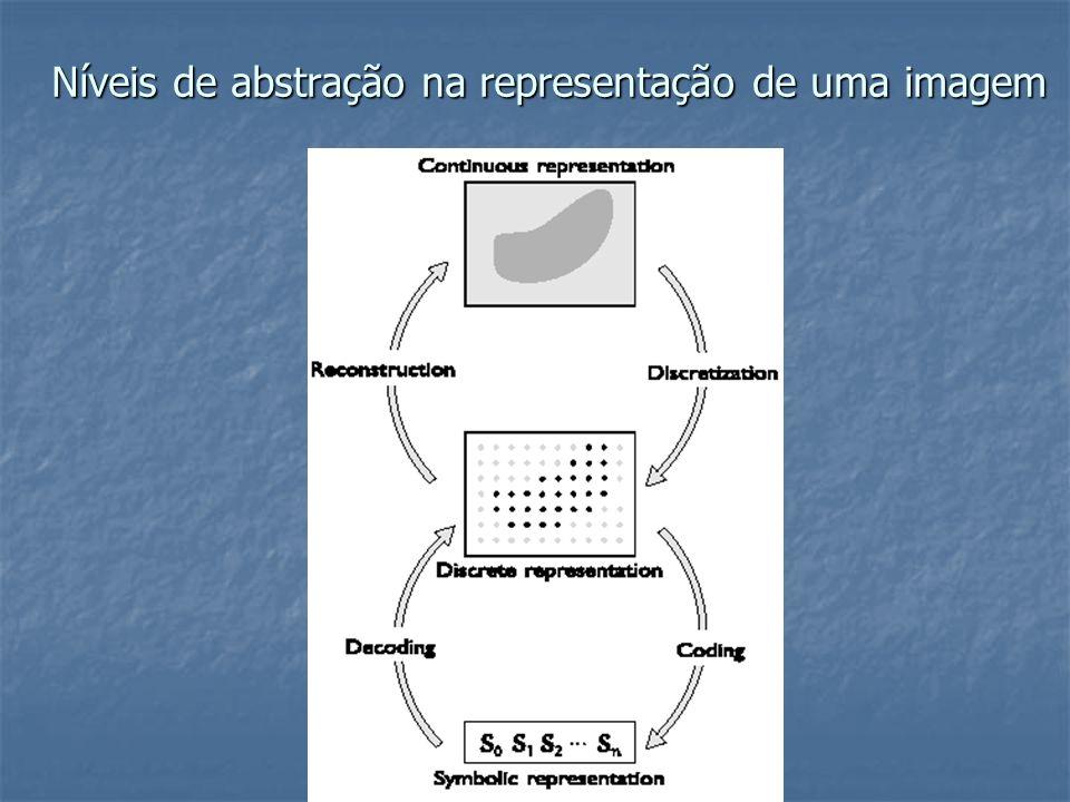 Níveis de abstração na representação de uma imagem