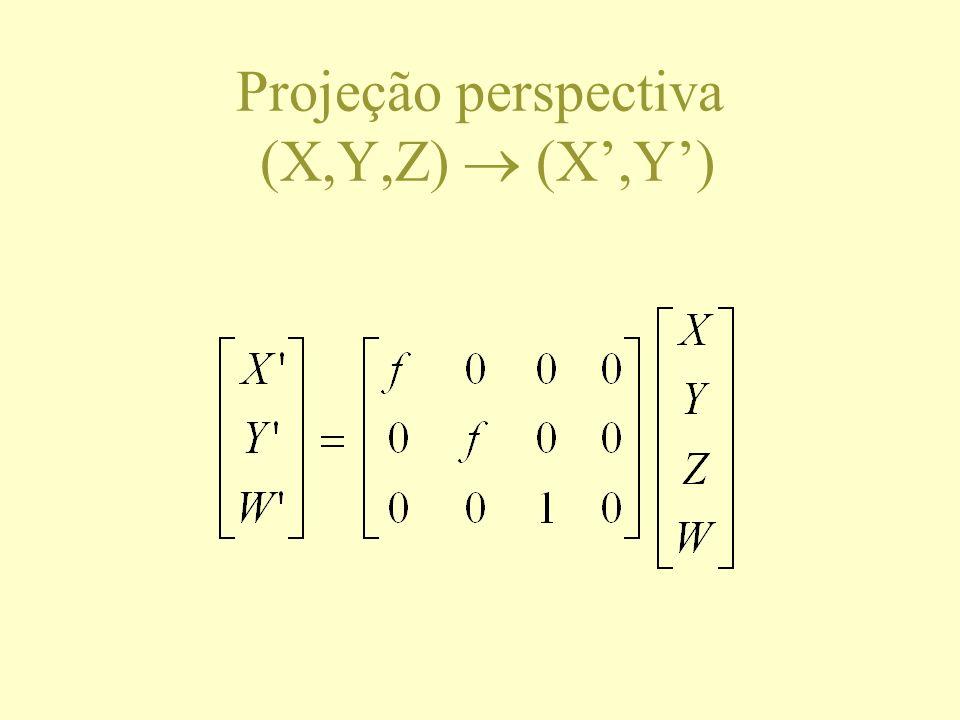 Projeção perspectiva (X,Y,Z) (X,Y)