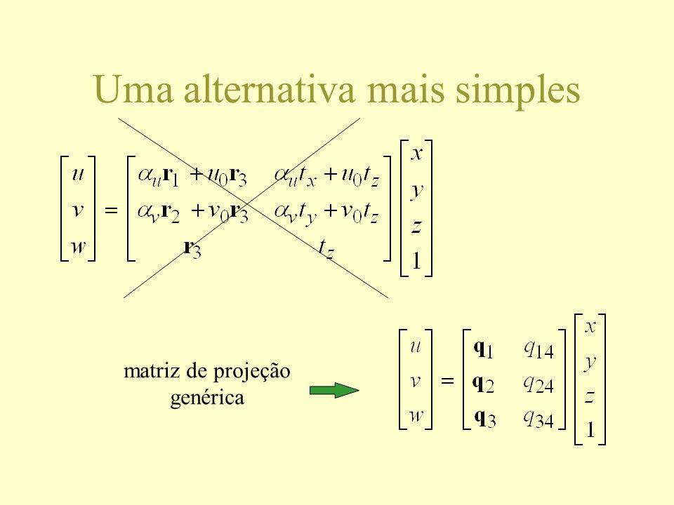 Uma alternativa mais simples matriz de projeção genérica