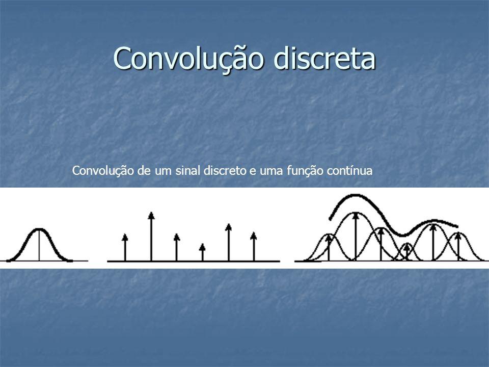 Convolução discreta Convolução de um sinal discreto e uma função contínua