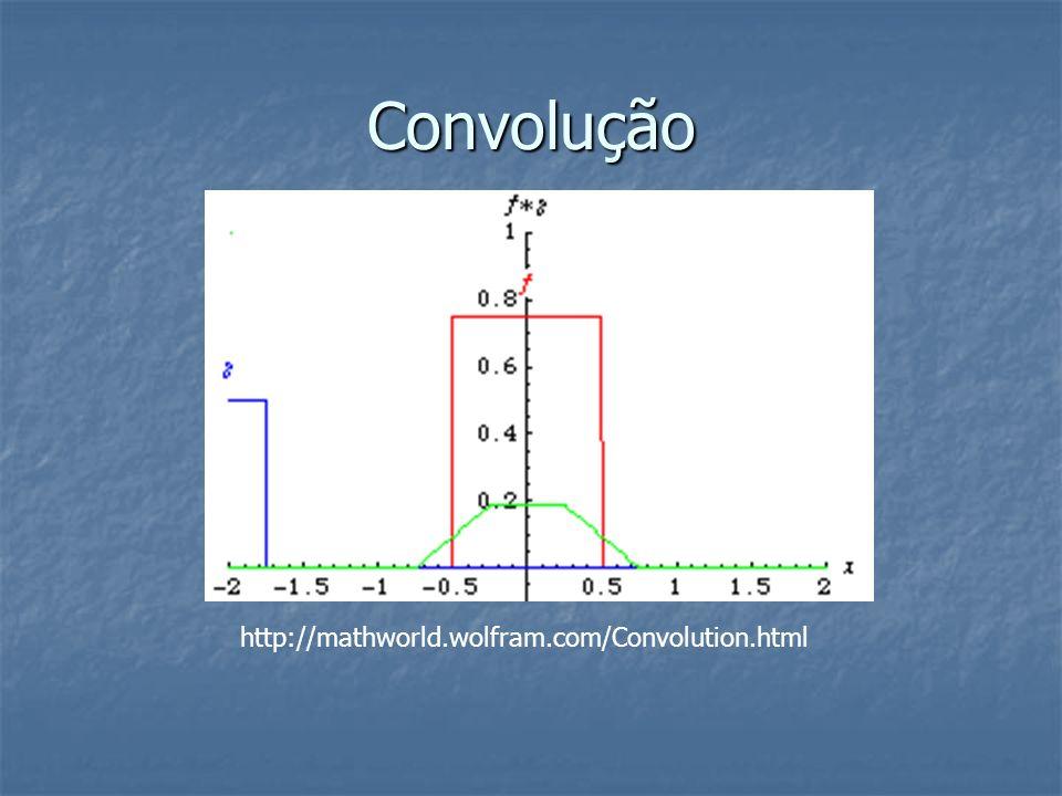 Convolução http://mathworld.wolfram.com/Convolution.html