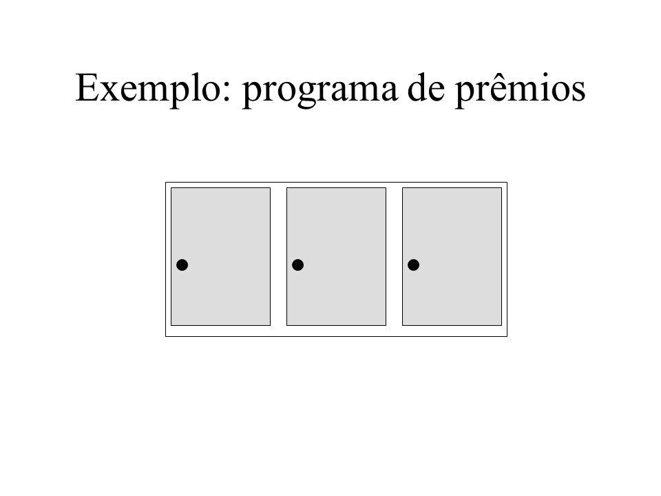 Exemplo: programa de prêmios