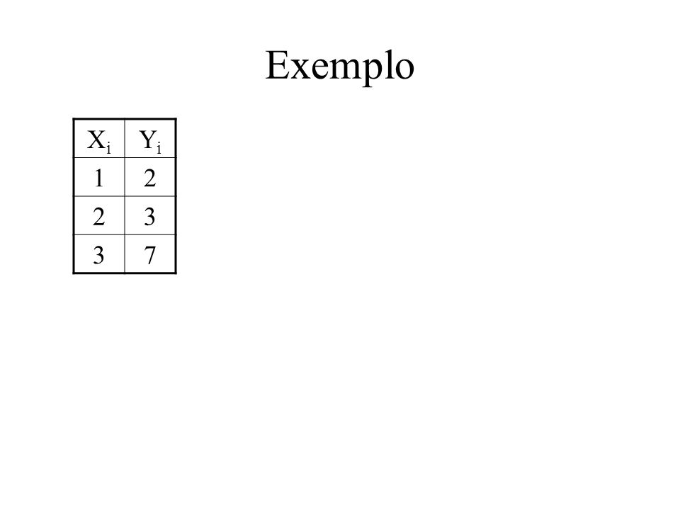 Exemplo XiXi YiYi 12 23 37