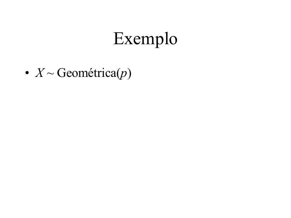 Exemplo X ~ Geométrica(p)