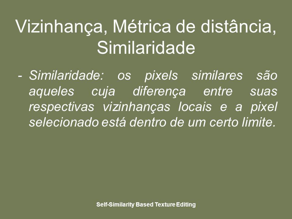 Self-Similarity Based Texture Editing Similarity-Based Cloning clonada Textura alvo