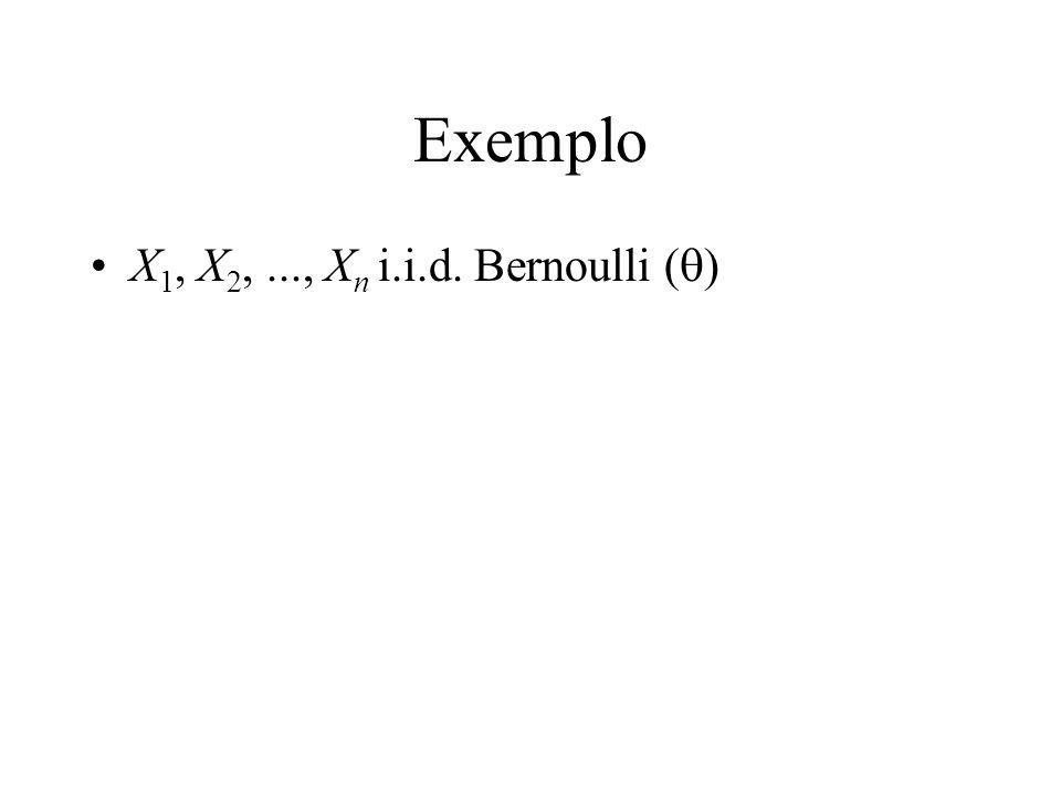 Exemplo X 1, X 2,..., X n i.i.d. Bernoulli ( )