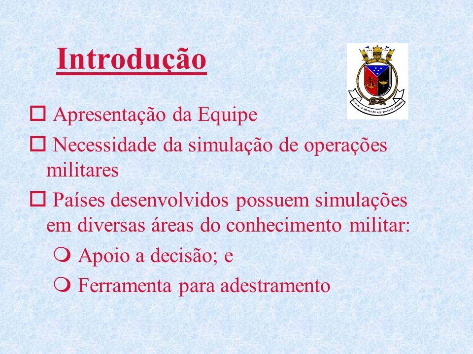 Introdução o Apresentação da Equipe o Necessidade da simulação de operações militares o Países desenvolvidos possuem simulações em diversas áreas do c