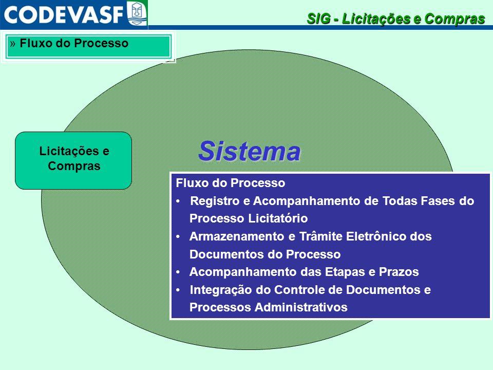 SistemaIntegradodeGestão SIG - Licitações e Compras » Fluxo do Processo Fluxo do Processo Registro e Acompanhamento de Todas Fases do Processo Licitat