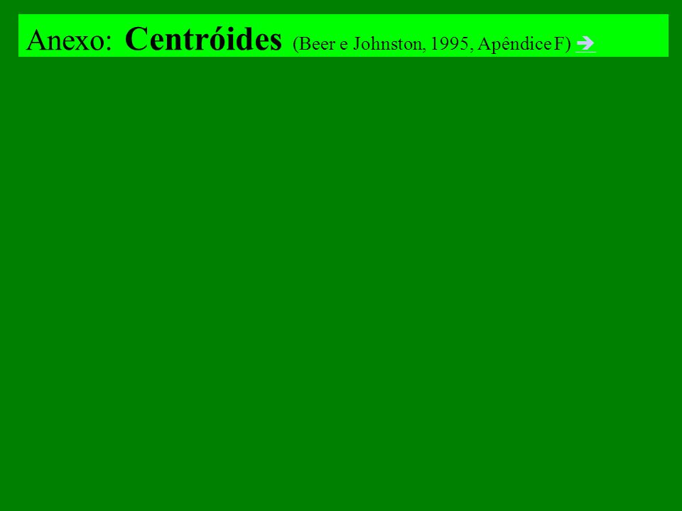 Anexo: Centróides (Beer e Johnston, 1995, Apêndice F)