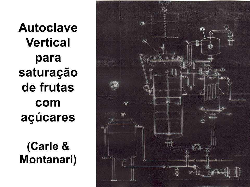 Autoclave Vertical para saturação de frutas com açúcares (Carle & Montanari)
