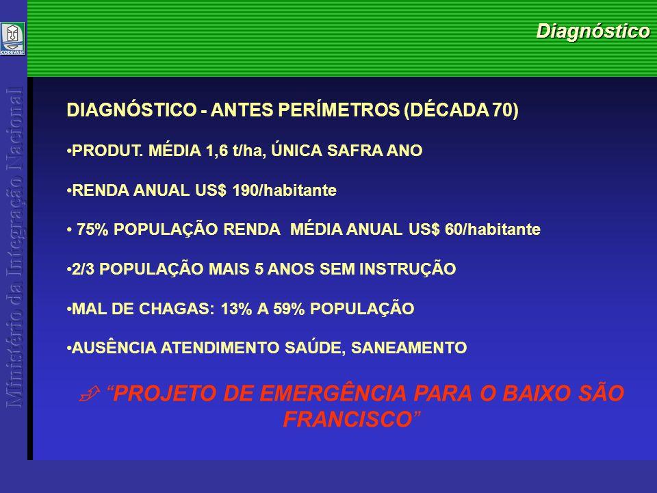 Diagnóstico DIAGNÓSTICO - ANTES PERÍMETROS (DÉCADA 70) PRODUT.