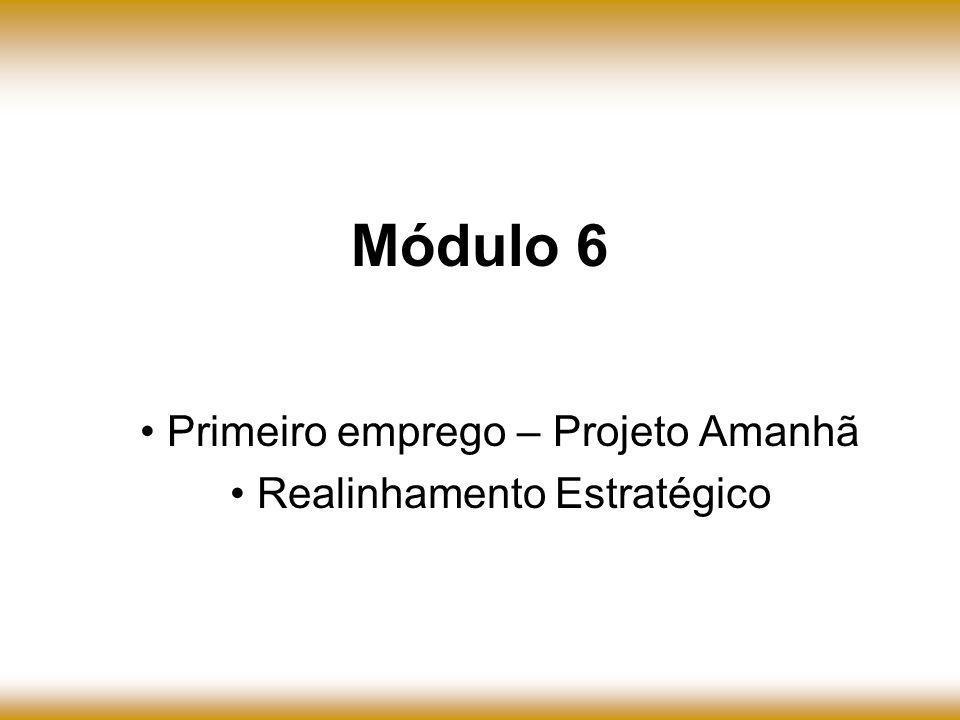Primeiro emprego – Projeto Amanhã Realinhamento Estratégico Módulo 6
