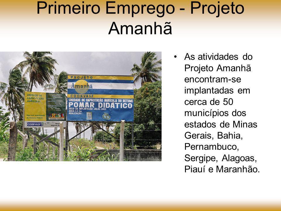 Projeto Amanhã - Recursos aplicados 2003/2005