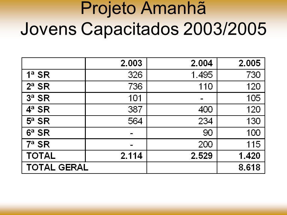 Projeto Amanhã Jovens Capacitados 2003/2005