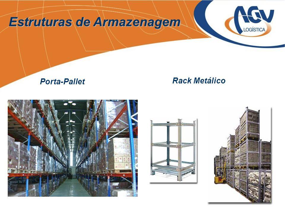 Estruturas de Armazenagem Porta-Pallet Rack Metálico