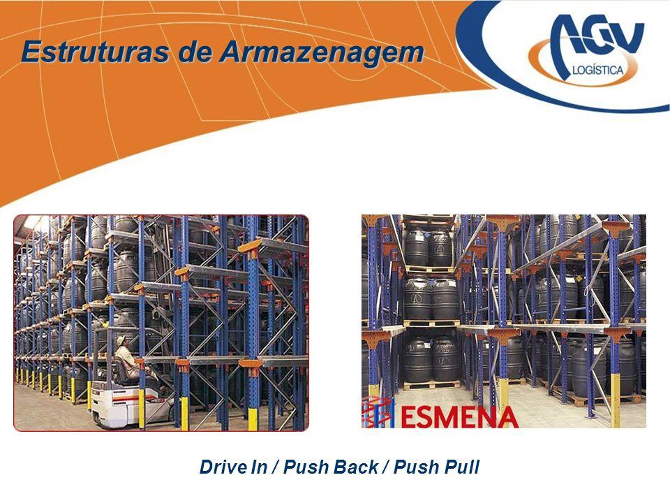 Estruturas de Armazenagem Drive In / Push Back / Push Pull
