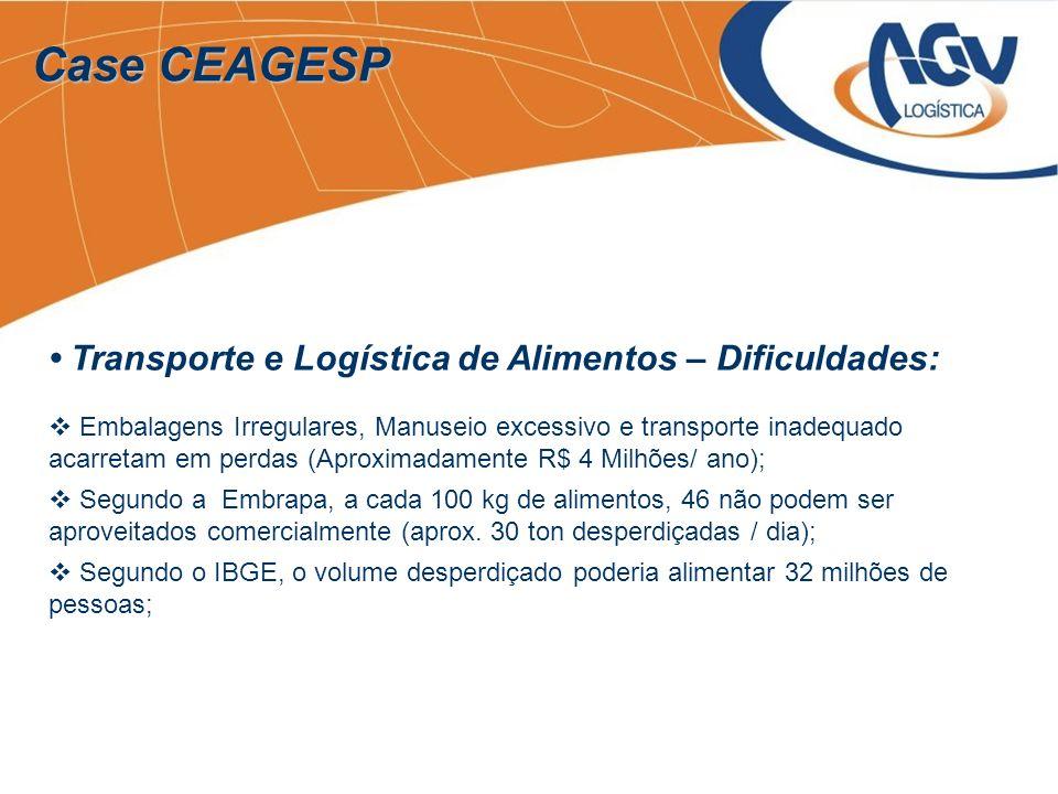 Case CEAGESP Transporte e Logística de Alimentos – Dificuldades: Embalagens Irregulares, Manuseio excessivo e transporte inadequado acarretam em perda
