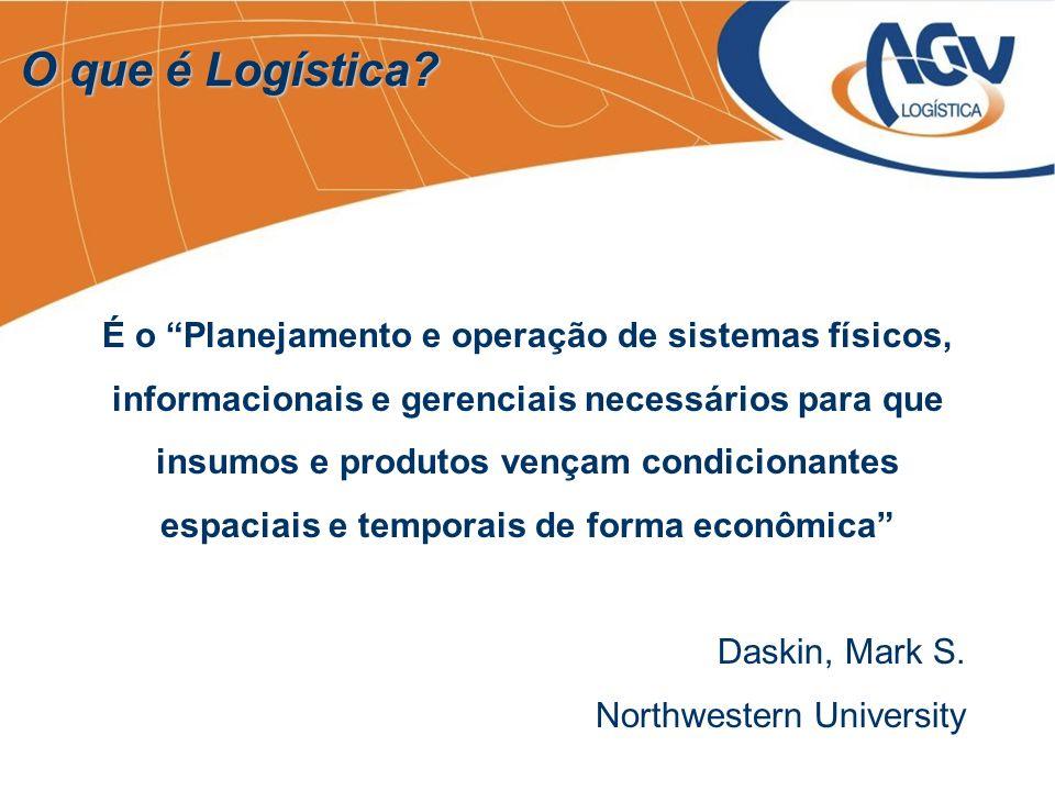 É o Planejamento e operação de sistemas físicos, informacionais e gerenciais necessários para que insumos e produtos vençam condicionantes espaciais e