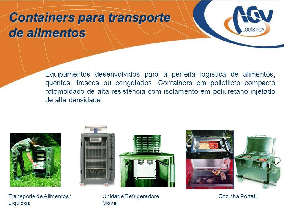 Containers para transporte de alimentos Cozinha PortátilUnidade Refrigeradora Móvel Transporte de Alimentos / Líquidos Equipamentos desenvolvidos para
