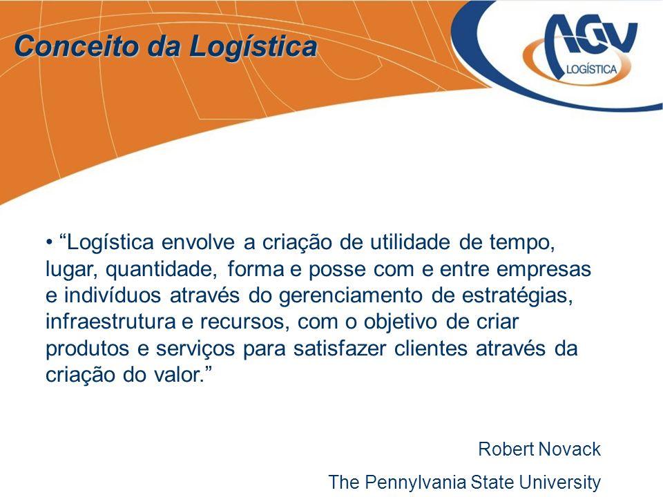 Logística envolve a criação de utilidade de tempo, lugar, quantidade, forma e posse com e entre empresas e indivíduos através do gerenciamento de estr