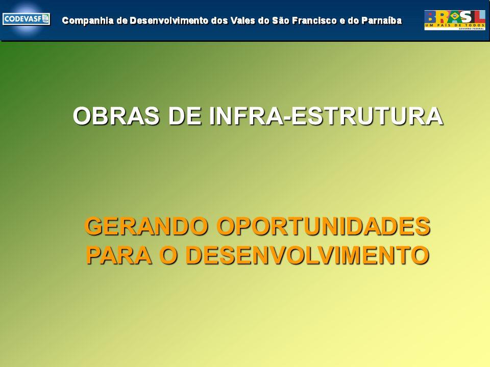 GERANDO OPORTUNIDADES PARA O DESENVOLVIMENTO OBRAS DE INFRA-ESTRUTURA