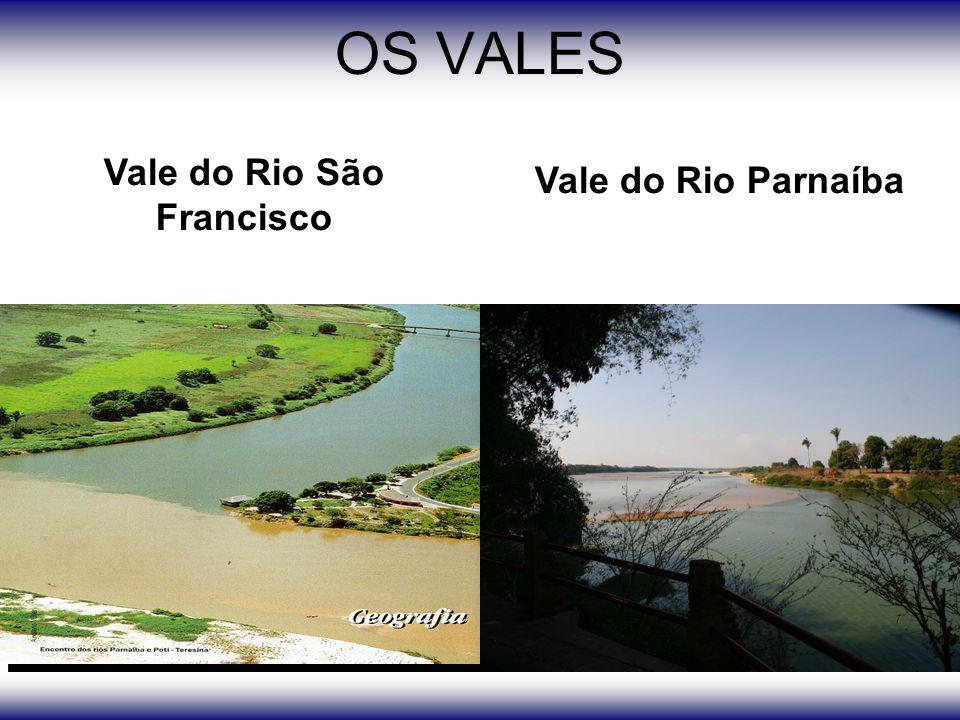 OS VALES Vale do Rio São Francisco Vale do Rio Parnaíba