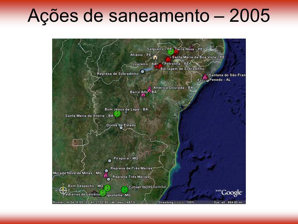 Ações de saneamento – 2005