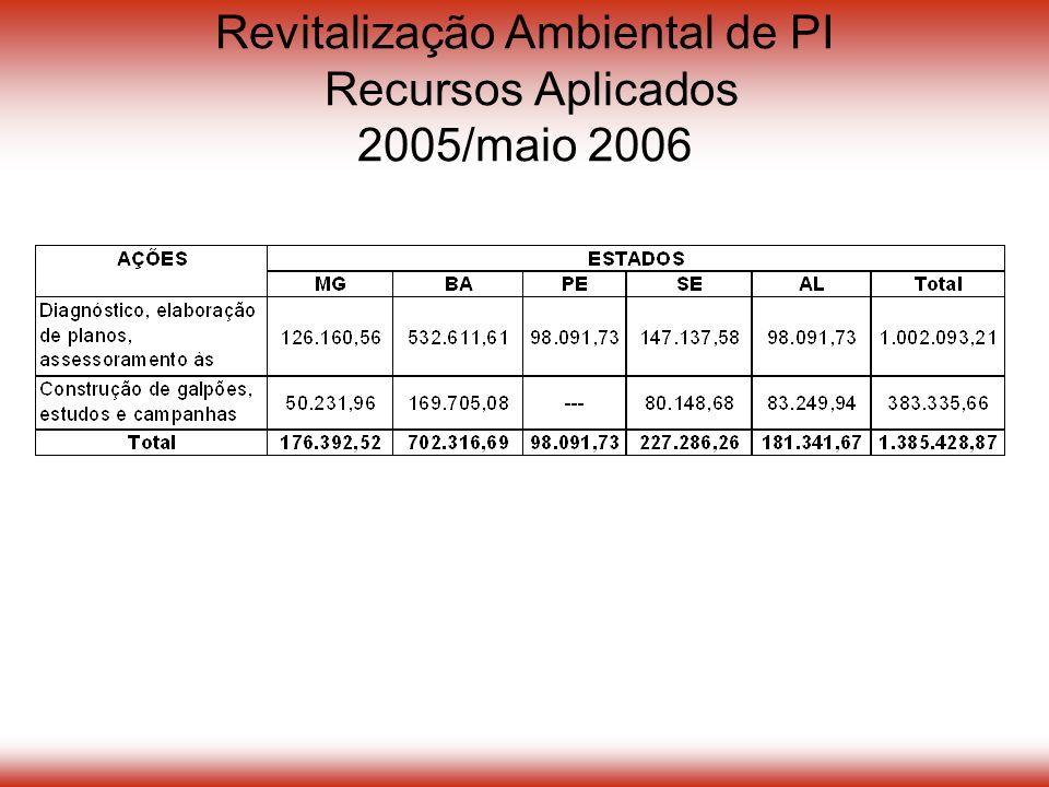 Revitalização Ambiental de PI Recursos Aplicados 2005/maio 2006