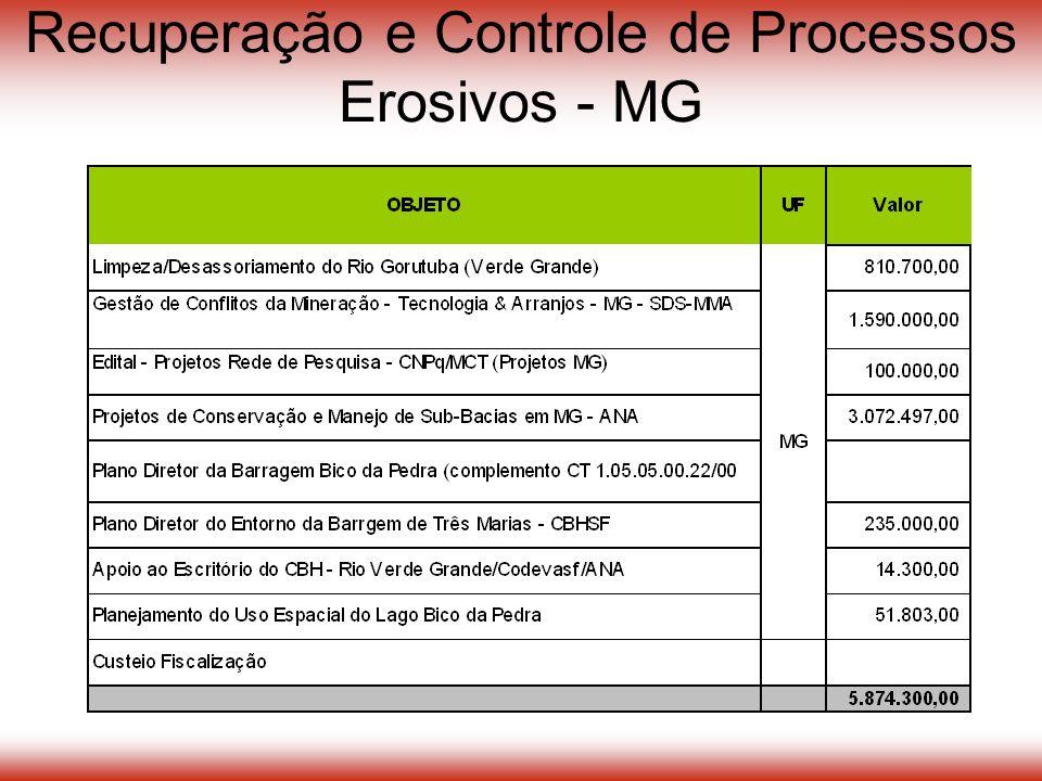 Recuperação e Controle de Processos Erosivos - MG