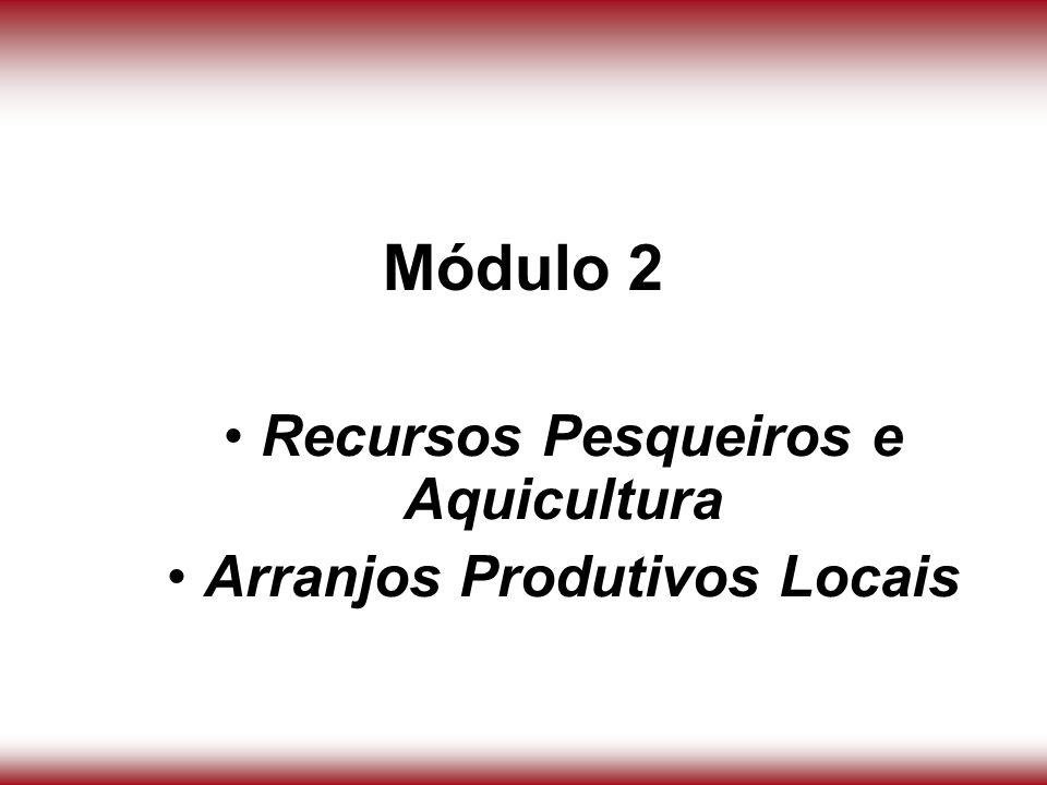 Módulo 2 Recursos Pesqueiros e Aquicultura Arranjos Produtivos Locais